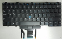 New for Dell Latitude E5450 E7450 0D19TR Keyboard US Black with Backlit