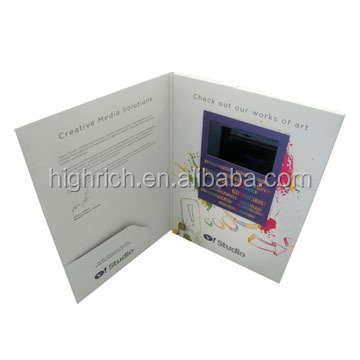 "1.8-7"" LCD video card, video greeting card, video greeting card module"