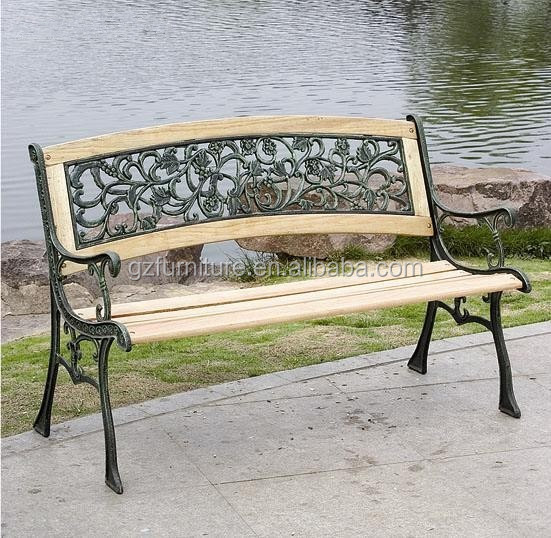 Garden Patio Bench Seat Park Out Door Side Yard Deck Wood Metal Porch Benches
