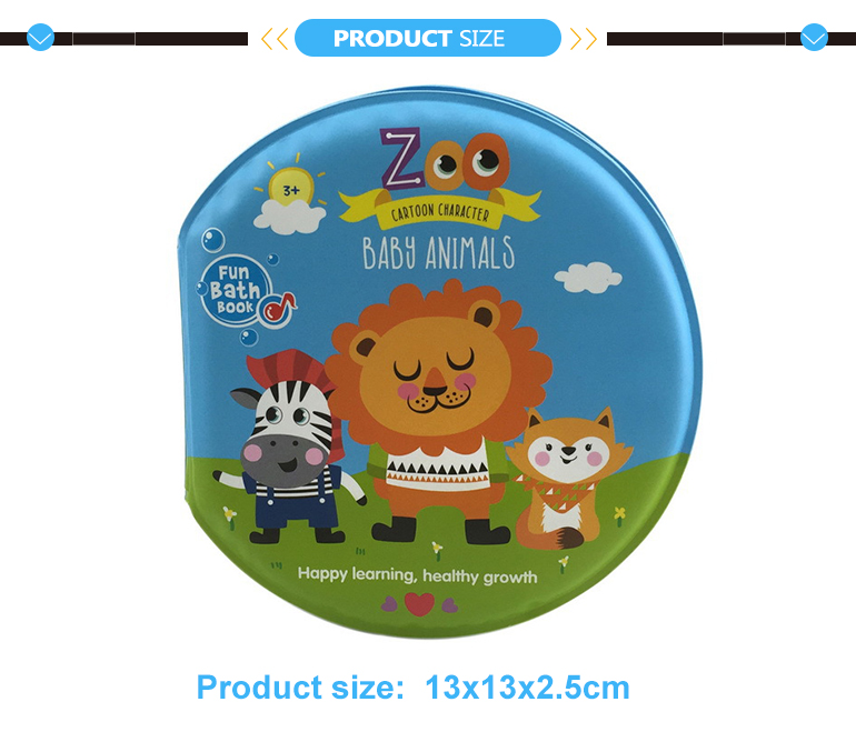 Waterproof toys custom baby eva bath book with BB sound