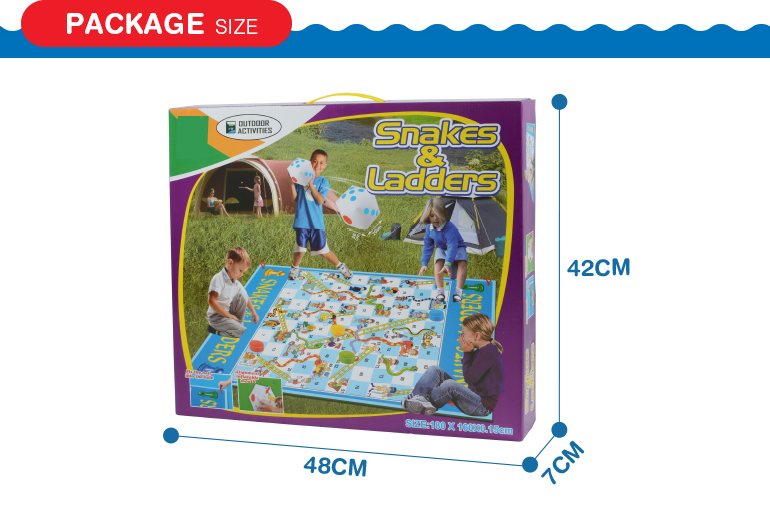 Wholesale new trending hot products puzzle super snakes and ladders inflatable chess game with good quality