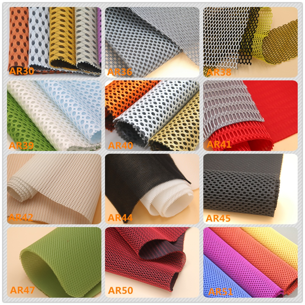Fine 3mm thickness breathable 320gsm spacer mesh fabric