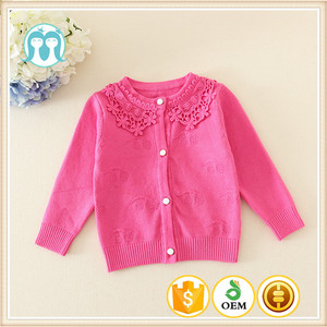 New style/items/designs of kids sweater childern's sweater kids /girls red cardigan for girls