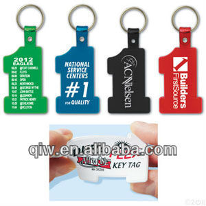 Soft Number One Key Tag Promotional Product