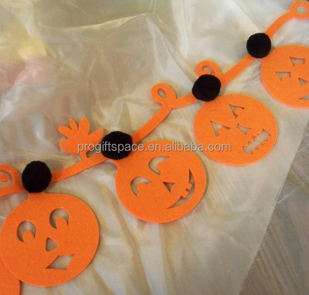 2017 new hot sale China product fabric craft wedding party supply gift wholesale felt handmade Halloween fake pumpkin decoration