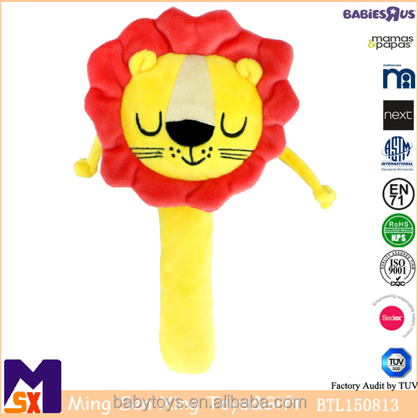 Baby play toy plush lion hand drum kids lovely toys for sale