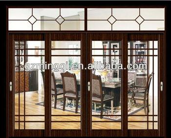 aluminum frame tempered glass sliding balcony doors for house & Aluminum Frame Tempered Glass Sliding Balcony Doors For House - Buy ...