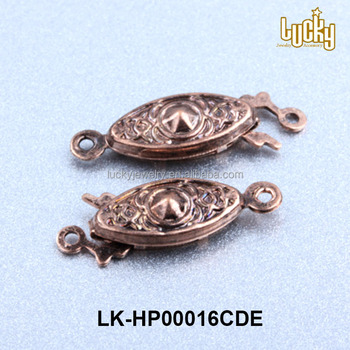 High Quality Bracelet Findings Antique Brass Metal Fish Hook Clasp