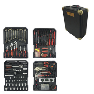 186 Pieces High Quality Tool Set with Black Aluminum Case