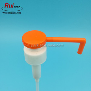 good quality long nozzle color customized plastic lotion dispenser pump 28/410
