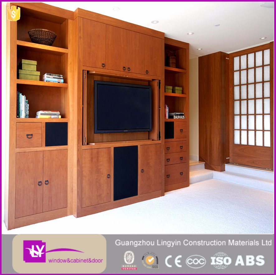 Living room home furniture wooden tv cabinet modern stand for Home living room cupboard design