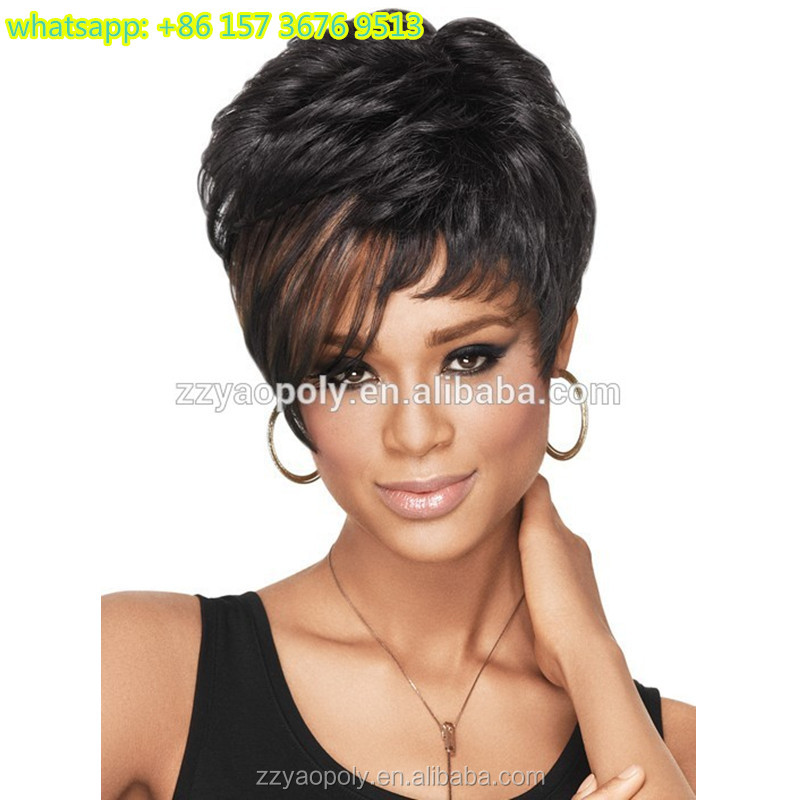 Aliexpress Hot Sale Cheap European America Short Synthetic Full Machine  Hair Wigs For White Women , Buy Short Hair Wigs For Small Heads,Synthetic  Hair