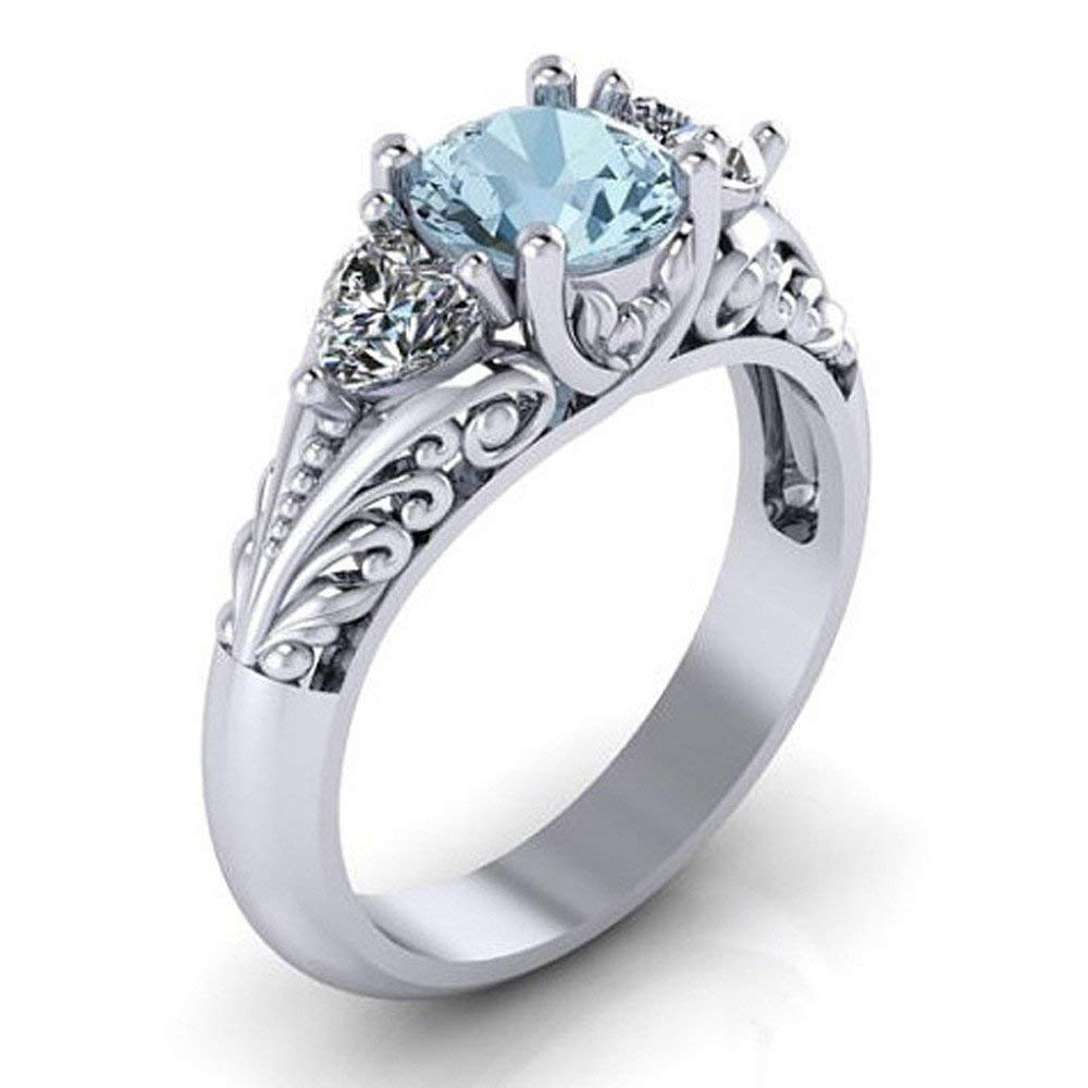 Fashion Earrings,UMFun Women Sapphire Engagement Ring Creative Couple Earring Jewelry Gift