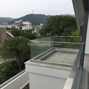 aluminum u channel glass balustrade for frameless glass balcony railing