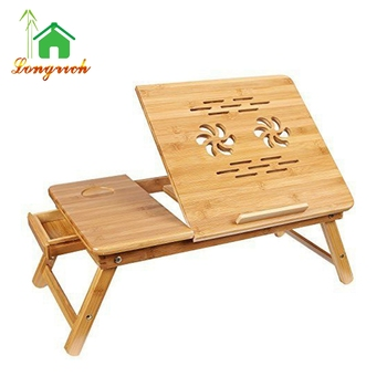 Bamboo Adjustable Standing Desk Laptop Computer Stand Laptop Reading Table  For Bed   Buy Bamboo Laptop Desk,Bamboo Table Top,Reading Table For Bed ...
