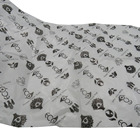 black logo printing wrapping white paper silk saree