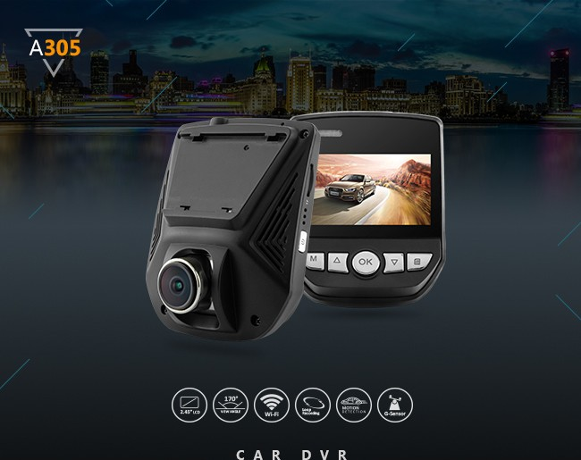 original Novatek smart car dvr 1080P DOME dash camera 170 degree 2.45 inch WIFI dashcam