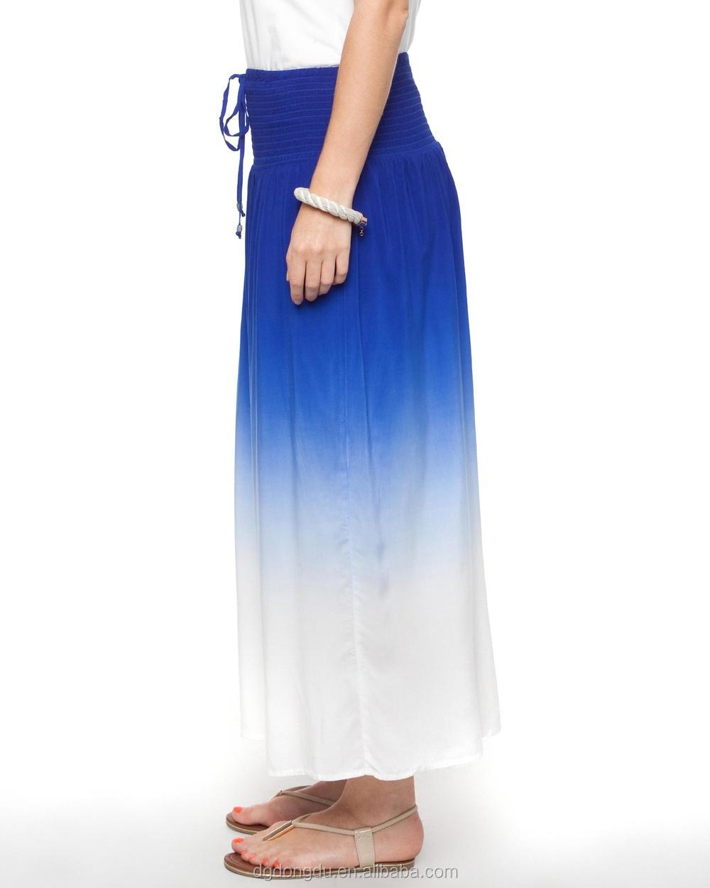 fashion dip dye maxi skirt skirt professional china
