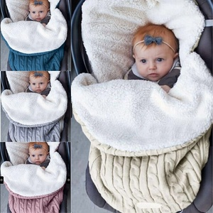 Photo props knitting baby stroller sleeping bag for winter