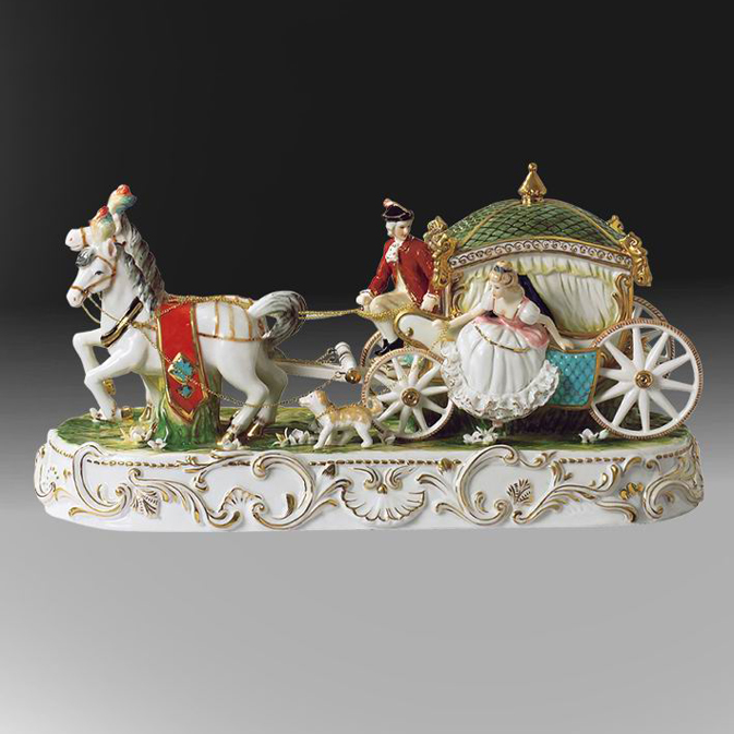 Ceramic crafts eupopean classical royal carriage room porcelain figurines <strong>decoration</strong>