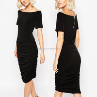 clothing manufacturer jersey black fashion lady dress wholesale apparel/clothes