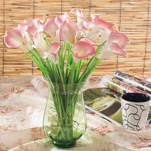 Factory supply latex calla lily flowers for construction machinery artificial flower