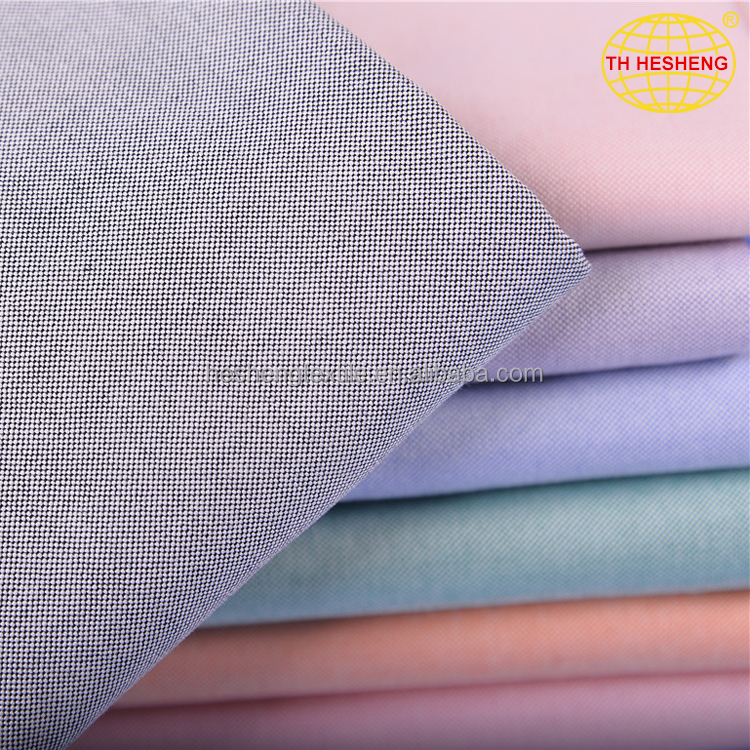 Hot sale custom stock oxford fabric wholesale fashion yarn dyed 100% cotton fabric for shirting