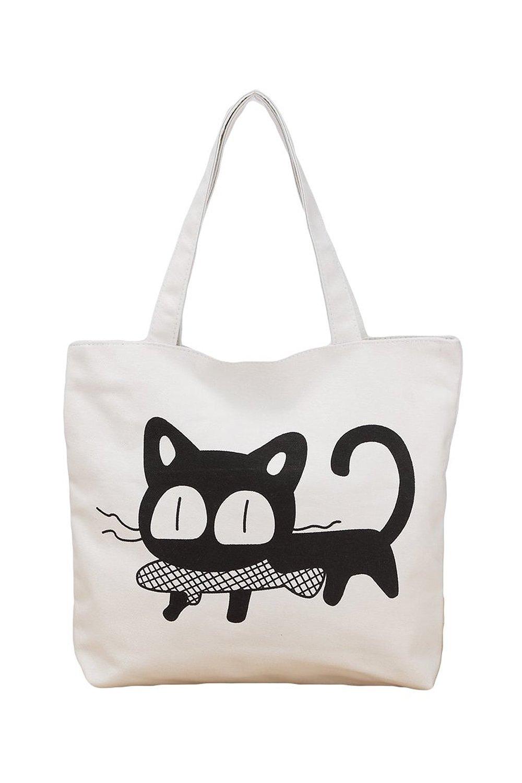 Get Quotations · TOOGOO(R)Women Tote Bag Large Handbag Casual Cute Shoulder  Bag White