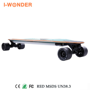 SK-E2 I-Wonder Led light electric skateboard dual hub motors in-wheel electric longboard boosted board
