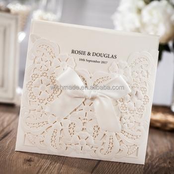 Wishmade Factory Price Diy Laser Cut Wedding Invitation Cards