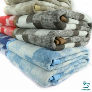 Wholesale cheap super soft thick mexican wool blanket army military recycled material blankets