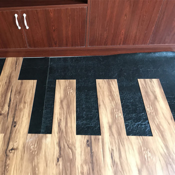 Noise Insulation Wood Grain Rubber Flooring For Indoor Places