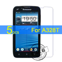 5pcs Ultra Clear LCD Screen Protector Film Cover For Lenovo A328T A328 Film  +  cloth