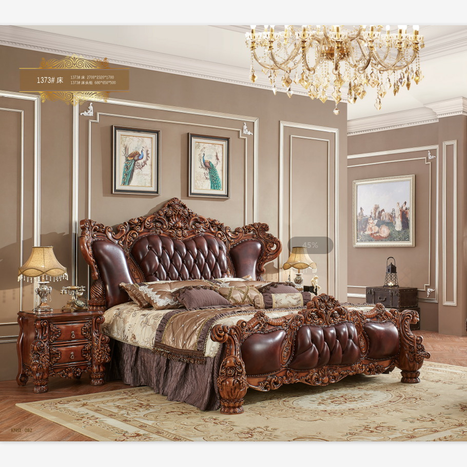 New Classic Bedroom Furniture,Gold Color King Bed - Buy Classic