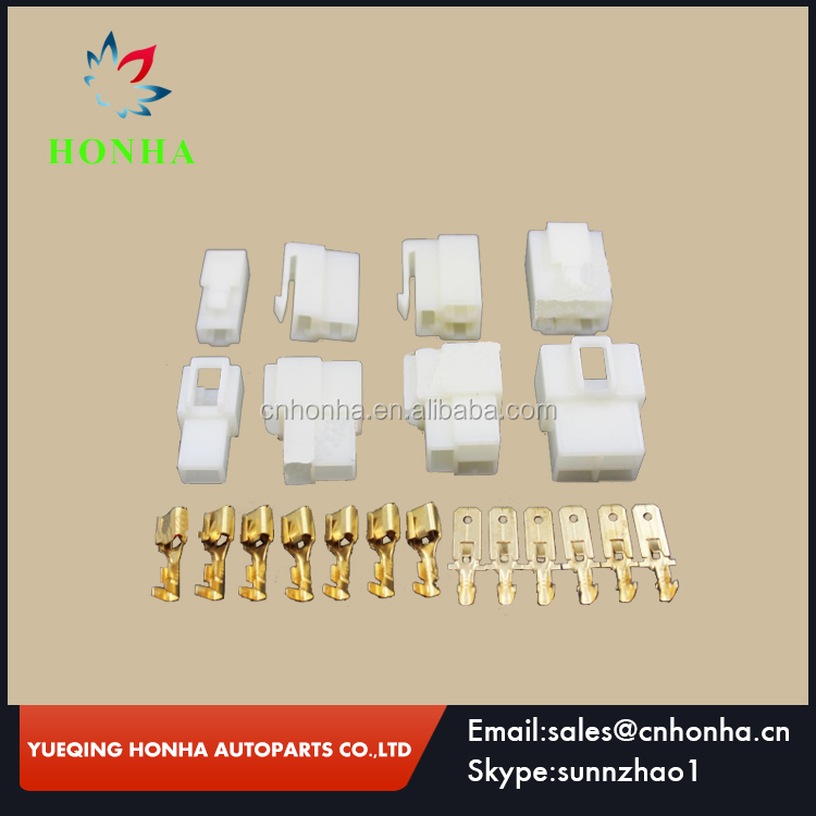 6.3 Series 1 / 2 / 3 / 4 / 6 / 8 / 12 Pin Automotive Wire Connector Motorcycle Car Engine Plug With Terminals Pins