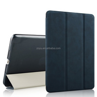 3-fold Naturally Treated Smart Leather Case with Sleep / Wake-up Function & Holder for ipad case.