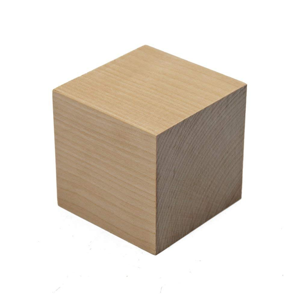 "Woodpeckers 1/2 inch wood cubes, natural unfinished craft wood blocks (1/2"") - Bag of 500"