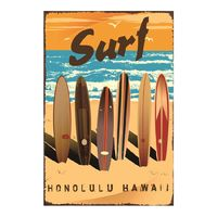 Surf Poster Vintage Tin Sign Retro Wall Stickers For Bar Pub Cafe Hotel Living Room Decoration Art Home Decor
