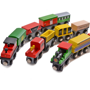 ML-29005 12pcs wooden train magnetic link toys for children gift wooden train magnetic toy