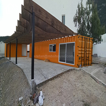 Customized 40 feet shipping container home hotel 40 foot container house with bathroom toilet