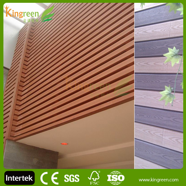 Plastic Exterior Wall Decorative Panel Fire Resistant Wood Plastic Composite Wall Board Wood