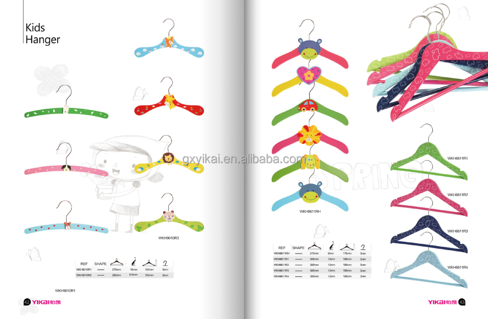 YIKAI wooden material kids clothes hangers
