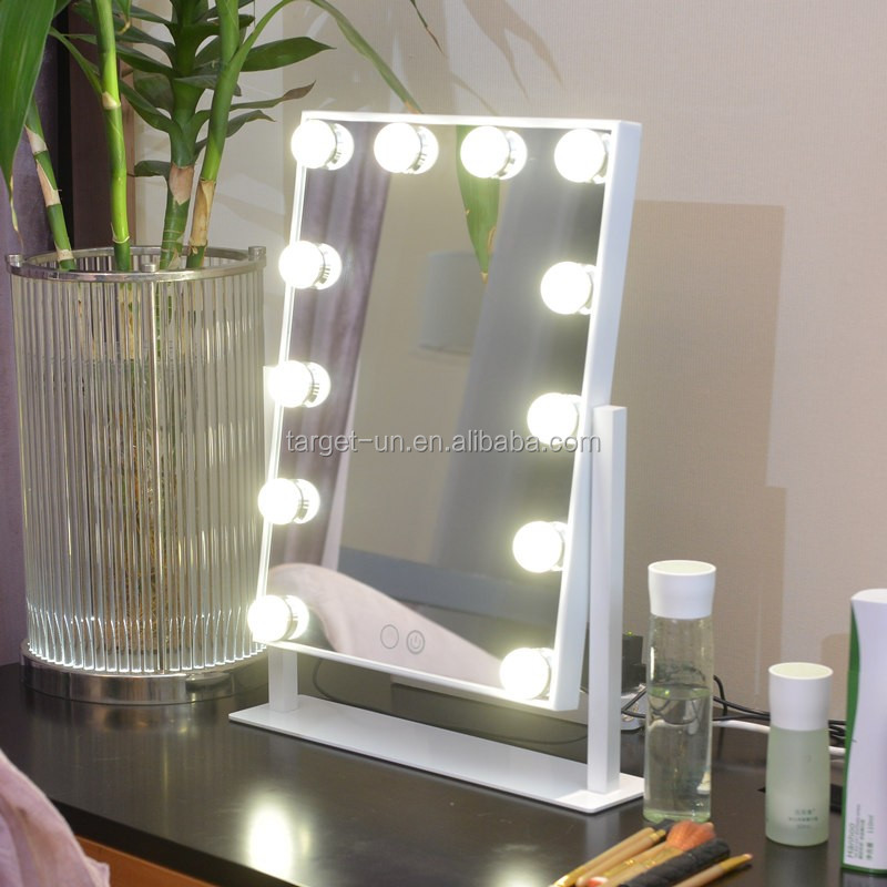 hollywood miroir avec la lumi re ampoules miroir de coiffeuse avec des lumi res led led miroir. Black Bedroom Furniture Sets. Home Design Ideas