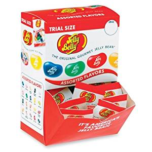 Wholesale CASE of 5 - Marjack Trial Size Gourmet Jelly Bellys-Jelly Belly, Individually Wrapped, 80/PK, Assorted Flavor
