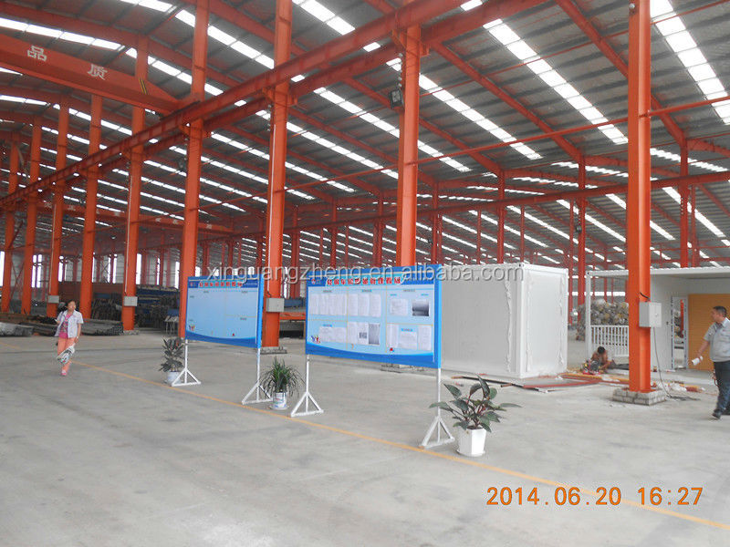 Low cost prefabricated steel structure electric warehouse