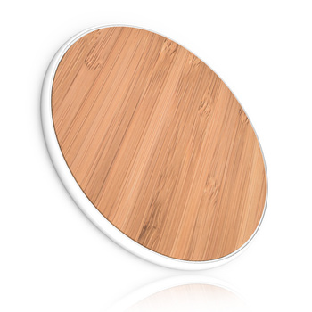 Bamboo wireless charging pad for samsung iPhone 5W qi charger wireless charger