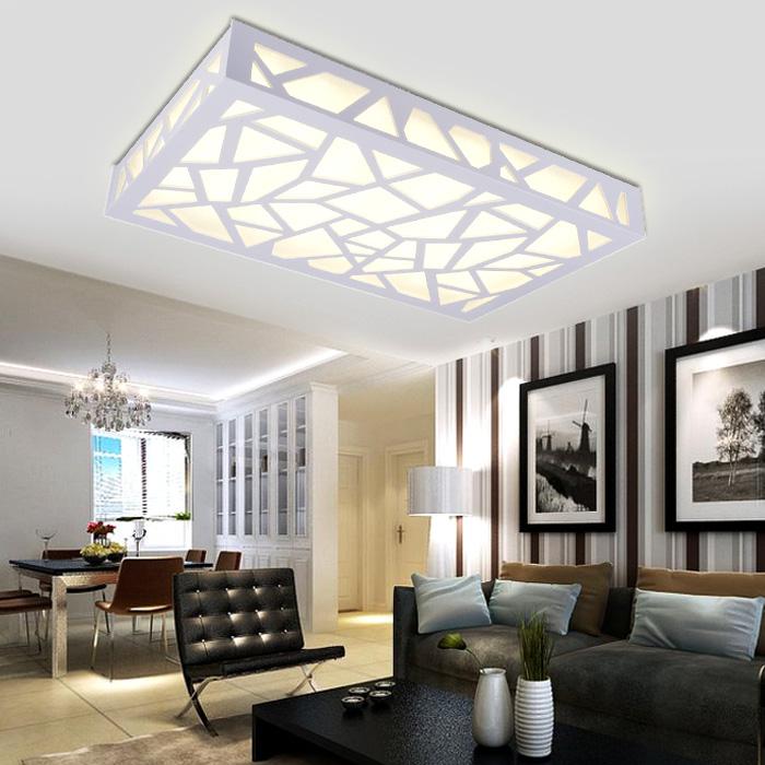 Led Ceiling Lights Ideas: Minimalist Bedroom Balcony Aisle Carved LED Ceiling Living
