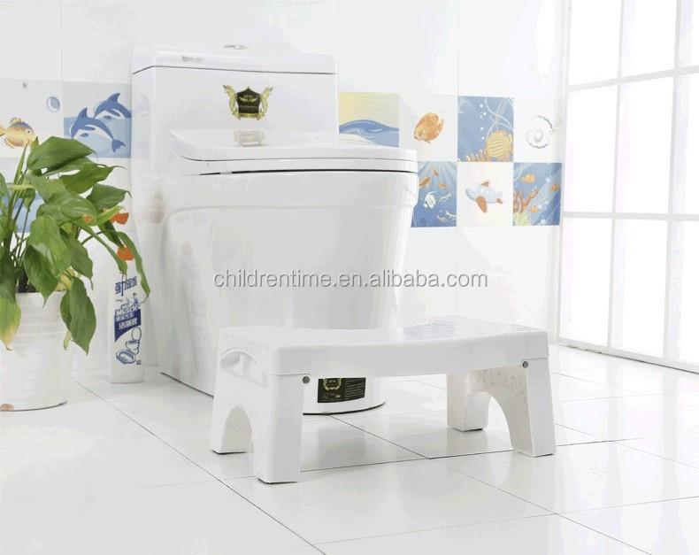 Pieghevole bagno wc sgabello regolabile accovacciata sgabello per