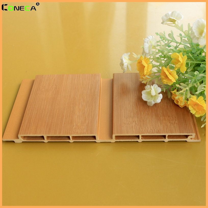 Bamboo texture Interior decoration wood plastic composite waterproof WPC wall panel