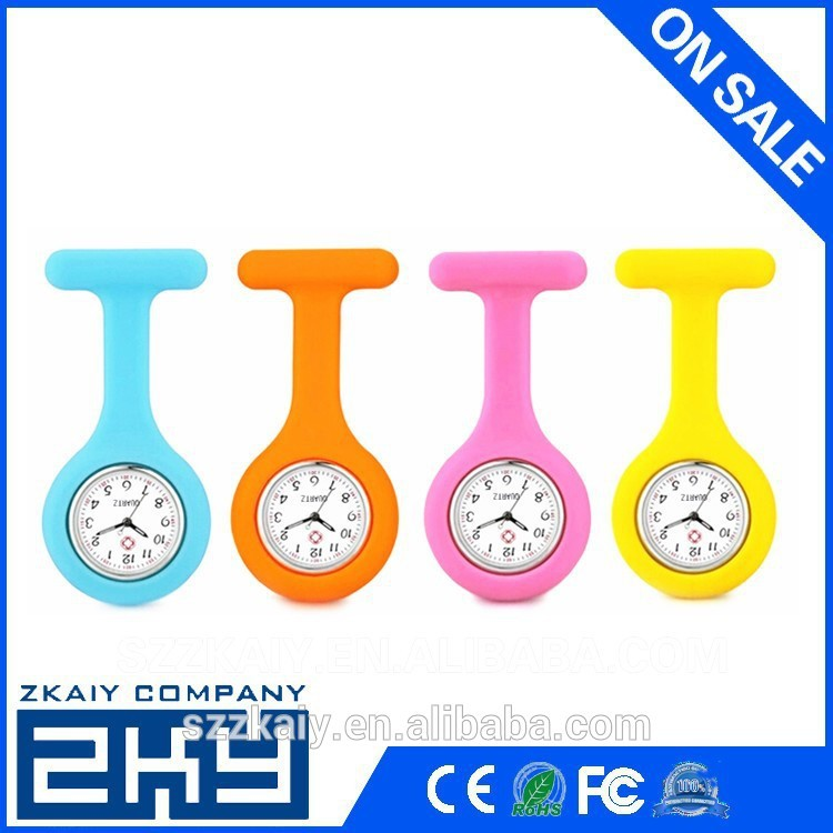 Quartz movement silicone watch for nurse and doctor